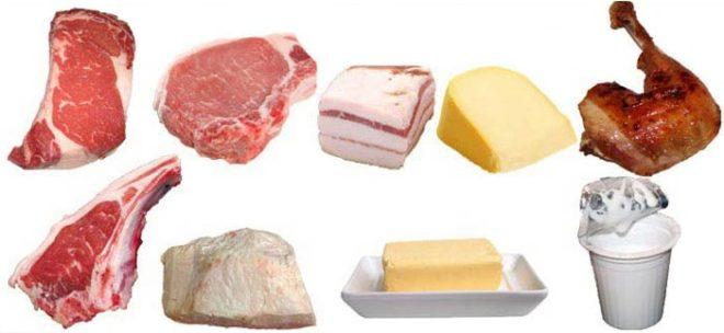 продукты где много жира