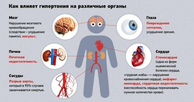 влияние на органы человека