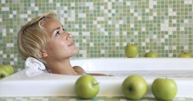 целебная ванна и полезные яблоки