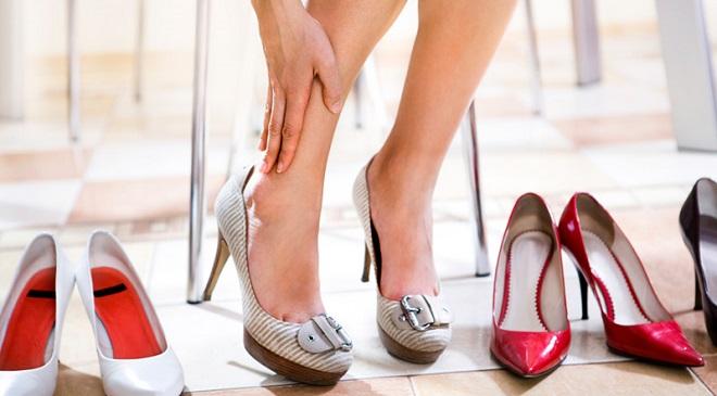 не удобная обувь
