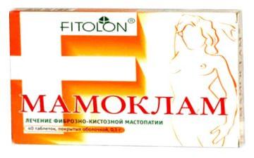 Мамоклам лекарство от мастопатии