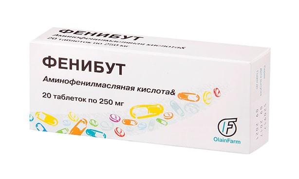 Фенибут, таблетки