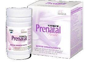 Витамины Витрум Пренатал Форте для беременных