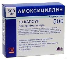 Таблетки Амоксициллин: инструкция по применению
