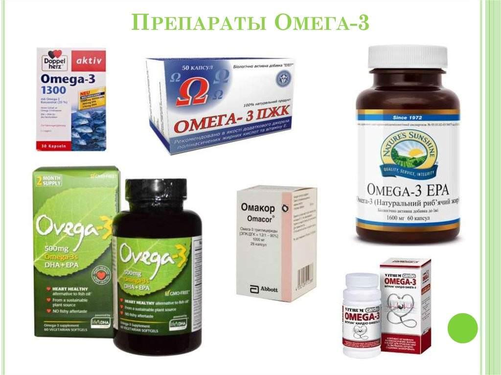Препараты ОМЕГА 3 жирных кислот