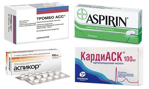 Препараты ацетилсалициловой кислоты