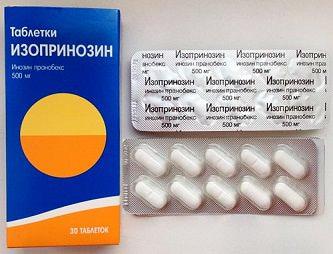 Таблетки Изопринозин: инструкция по применению