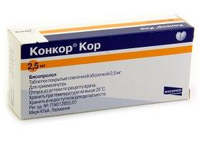 Таблетки Конкор (5, 10 мг)