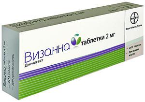 Таблетки Визанна: инструкция и отзывы женщин при эндометриозе