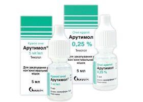 Глазные капли Арутимол: инструкция по применению при глаукоме