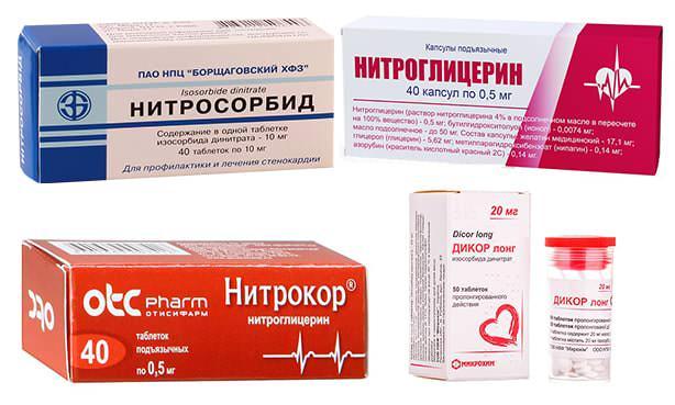 Препараты нитраты