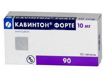 Таблетки Кавинтон: инструкция по применению