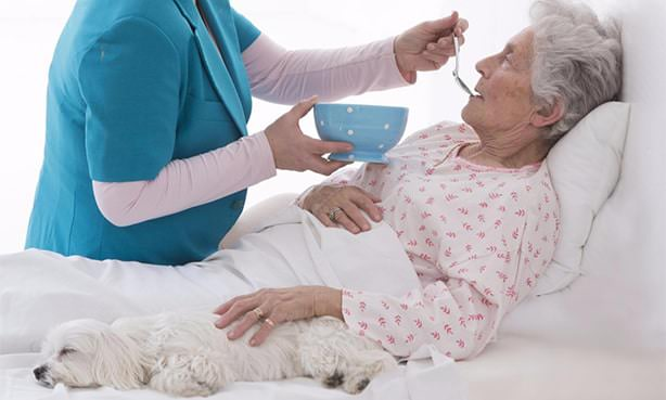 Кормление лежачей пациентки