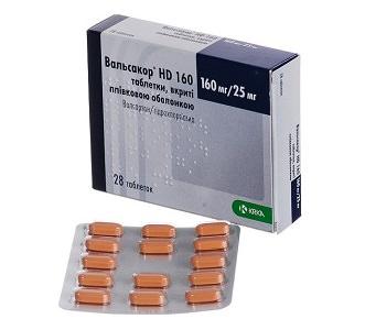 Таблетки Вальсакор от повышенного давления