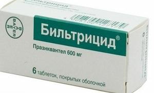 Как применять таблетки Бильтрицид в дозировке 600 мг