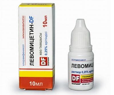 Капли для глаз Левомицетин: инструкция для детей и взрослых
