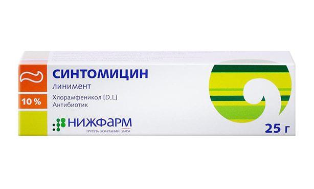 Синтомицин мазь